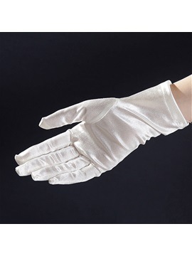 Classic Short Satin Wedding Glove More Colors