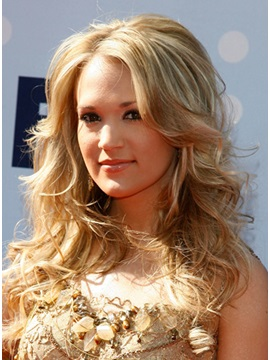 Curly Carrie Underwood Hairstyle Human Hair Wig About 16 Inches