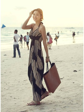 Beautiful Korean Style Bohemian Maxi Dress