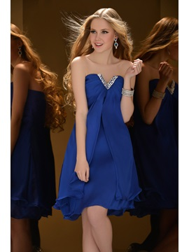 Beautiful A Line V Neck Short Length Sequins Homecoming Cocktail Dress