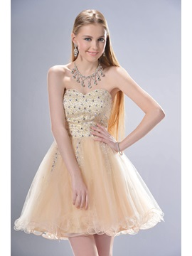 New Style A Line Sweetheart Mini Short Beading Sweet 16 Dress