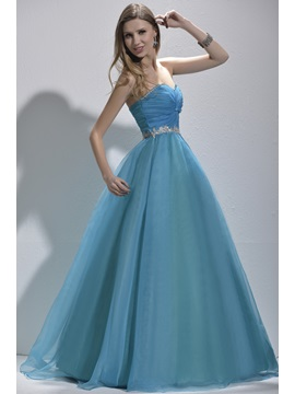 Attractive Sweetheart Appliques Sequine Lace Up Floor Length Prom Quinceanera Dress