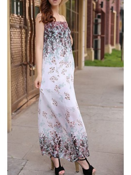 New Bohemian Style Petty Flowers Chiffon Dress