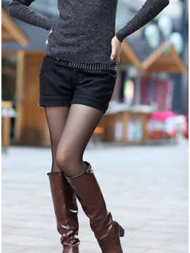 Sale Style Leisure All Matched Middle Waist Woolen Shorts