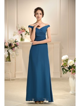 Special A Line Floor Length Off The Shoulder Bridesmaids Dress