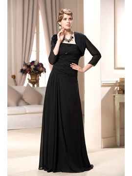 Remarkable Pleats A Line Strapless Floor Length Mother Of The Bride Dress