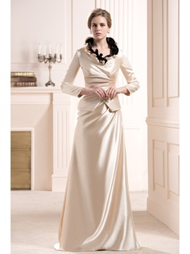 Ruffles Sheath Sleeveless Floor Length Mother Of The Bride Dress