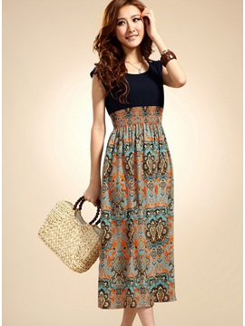 Modern Chiffon Korean Style Bohemian Maxi Dress
