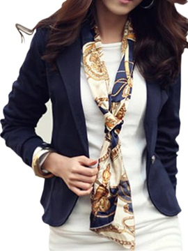 Glamorous Long Sleeves One Button Work Blazer