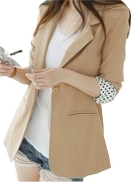 Distinctive Ol Style Long Sleeve Turndown Neckline Coat