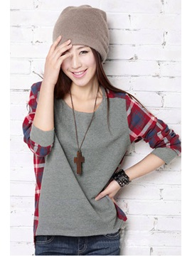 Boutique New Loose Round Neckline Long Sleeves T Shirt