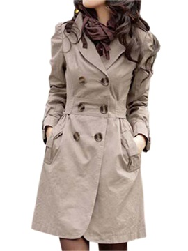 Best Quality Slim Cotton Double Breasted Long Trench Coat