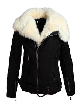 Top Quality Black Cotton Womens Outerwear