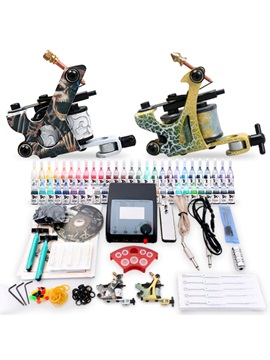 Top Quality Flat Lcd Dual Output Tattoo Power Supply Tattoo Machine With Accessories Tattoo Kit