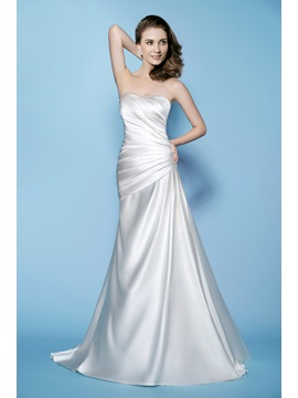 Gaceful A Line Sweetheart Neckline Ruched Lace Up Wedding Dress