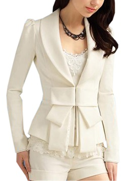 New Luxury Slim Bow Knot Long Sleeves Blazer