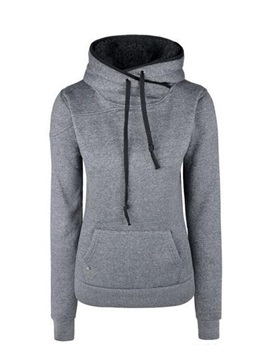Pure Color Split Joint Slim Thick Hoodie
