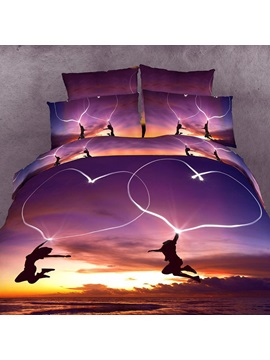 Gloam Scenery Cotton 4piece Bedding Sets