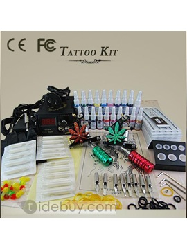 Professional Tattoo Kit With 2 Tattoo Machines 20 Inks And A Power Supply