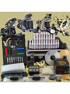 Professional Tattoo Kit With 4 Tattoo Machines 40 Inks And A Great Lcd Power Supply