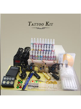 High Quality Tattoo Kit With 3 Tattoo Machines 28 Inks And Power Supply