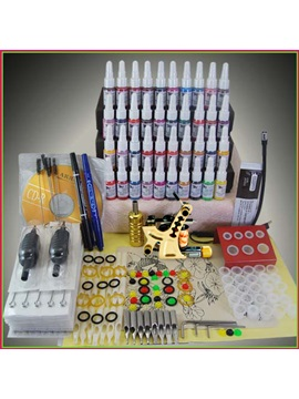 Tattoo Kit With 1 Tattoo Machines 40 Inks For Tattoo Beginners