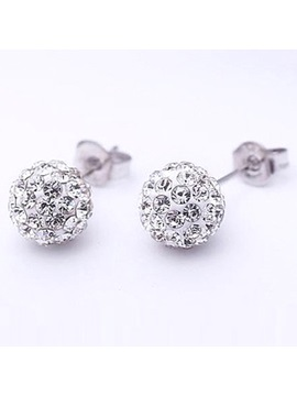 Superb Full Diamond Round Ladys Earrings
