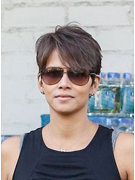 Custom Latest Halle Berry Hairstyle 100 Human Hair Hand Tied Mono Top Wig About 6 Inches
