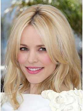 Custom Rachel Mcadams Hairstyle Long Straight Human Hair Elegant Lace Front Wig About 16 Inches