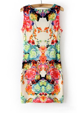 Unique Europe Style New Summer Print Dress
