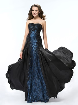 Mysterious A Line Lace Sweetheart Beading Long Evening Dress Designed