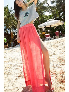 New Stylish Chiffon Split Front Long Skirt
