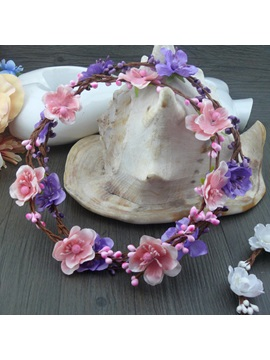 New Pink Flowers Bride Headwear