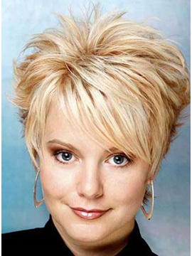 Custom Short Spiked Pixie Haircut 100 Remy Human Hair Full Lace Wig 6 Inches