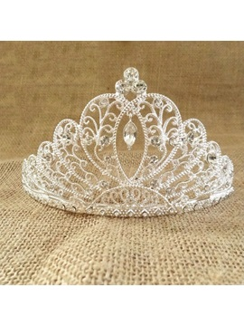 Preety Alloy With Rhinestone Wedding Tiaras