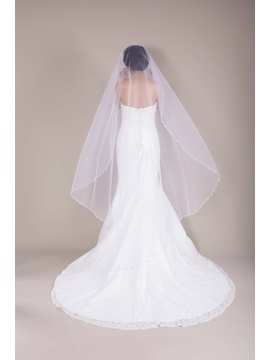 Great Waltz Tull Wedding Bridal Veil With Pearls