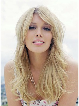 Long Bottom Subtle Curly Hairstyle 100 Remy Human Hair Lace Front Wig About 18 Inches