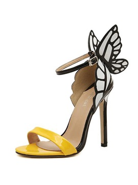 Selected Design Butterfly Slingback Heels