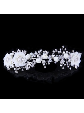 Ladylike High Grade Manual Bridal Headpiece With Pearl