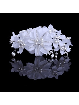 Ladylike Tidebuy Pearl Flower High Grade Manual Bridal Headpiece
