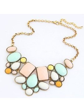 Fresh Candy Color Bohemian Style Womens Necklace