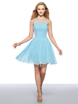 Enchanting A Line Straps Beading Ruffles Short Homecoming Dress