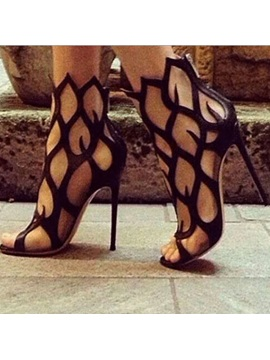 Fire Shaped Cut Out Party Sandals