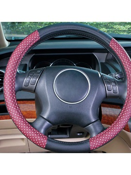 Patchwork Polk Dots Pvc Steering Wheel Cover