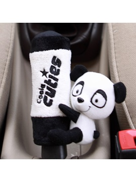 Panda Decorated Velvet Gear Shift Knob Cover