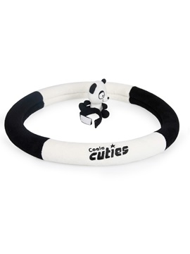 Contrast Color Patchwork Panda Decorated Steering Wheel Cover