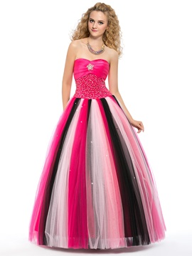 High Class Colourful Sweetheart Crystal Beading Floor Length Lace Up Quinceanera Dress