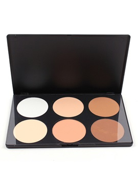 6 Colors Professional Concealer Foundation Bronzer Makeup Cosmetic Palette