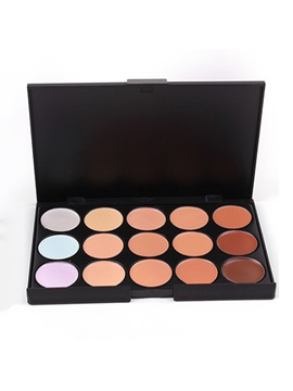 Natural 15 Colors Concealer Powder Palette