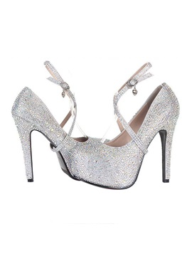 New High Heels Platform Pumps With Rhinestones